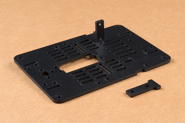 Motor Mount attached to base plate