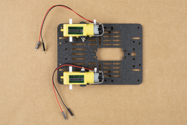 Both motors attached to base plate