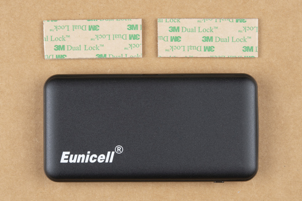 Battery pack and Velcro cut in half