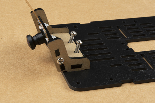 Screws inserted into camera mount assembly