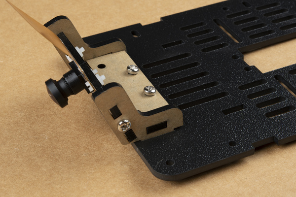 Camera mount screws screwed into chassis