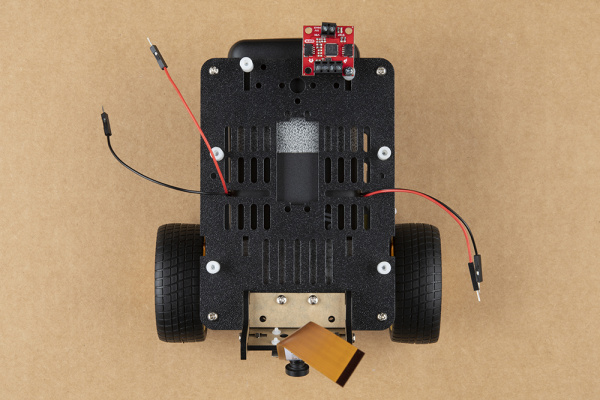 Qwiic Motor Driver attached to standoff