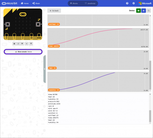 Serial Output Received from a Remote micro:bit Using the MakeCode Console
