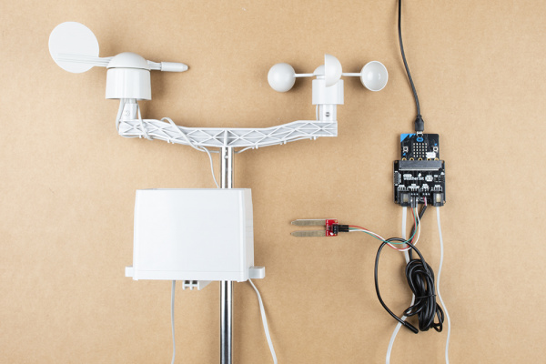 Weather Station Setup on a Table