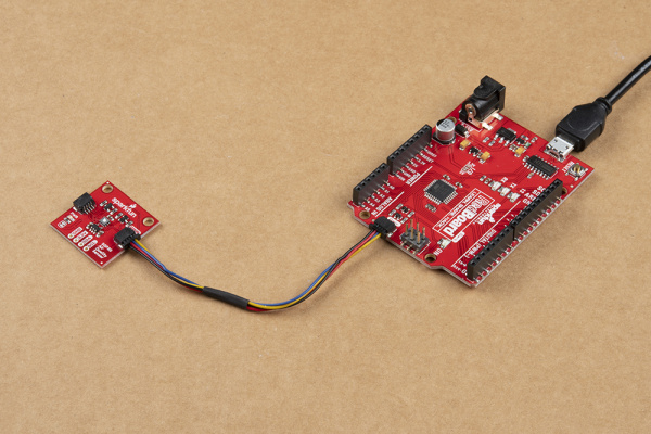 Air Quality Sensor connected to a RedBoard Qwiic