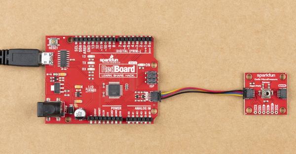 Hookup Qwiic MicroPressure Sensor to RedBoard Qwiic Port