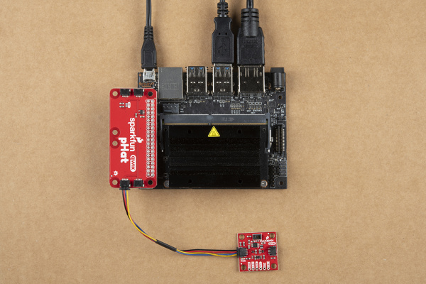 Hardware assembly with Jetson Nano with Qwiic pHAT