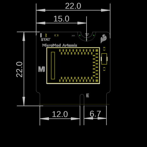 MicroMod Processor Board Dimensions