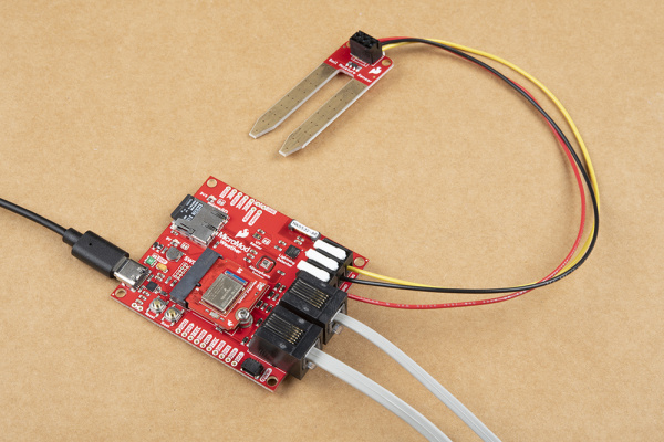 Fully assembled MicroMod Weather Carrier Board with external sensors