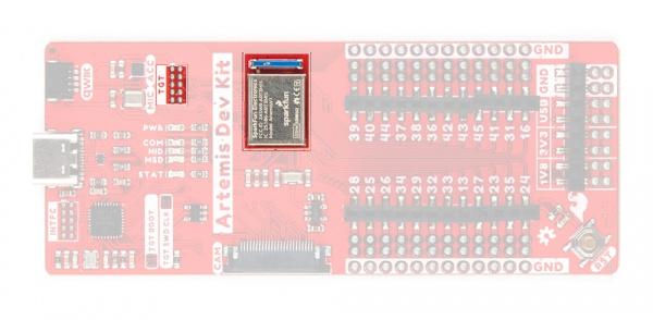 Artemis module and JATG pins
