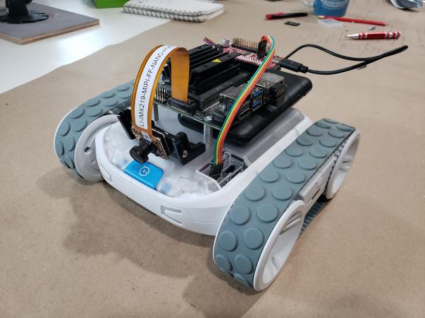 Assembled Sphero JetBot Mash-up