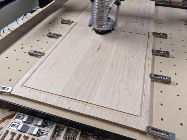 Using CNC to flatten and cut the profile