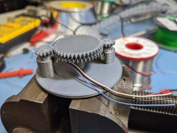 Tiny, melty stepper motors