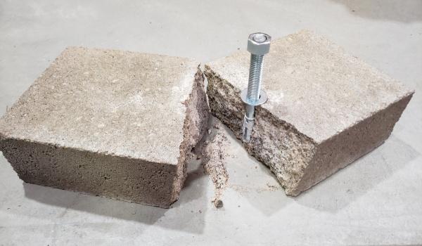A broken cinder block