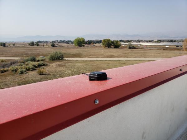 u-blox antenna on SparkFun parapet