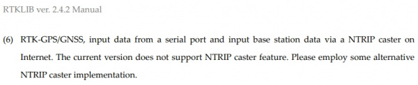 RTKLIB manual doesn't support NTRIP caster