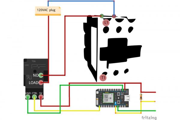contactor relay hookup