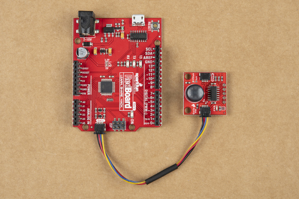 Qwiic PIR connected to RedBoard Qwiic