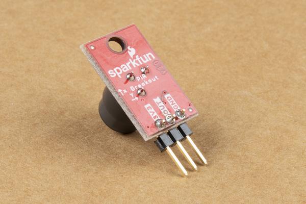 Headers soldered to PIR Breakout