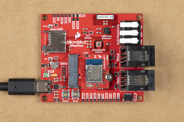 Assembled MicroMod Carrier and Processor connected via USB-C