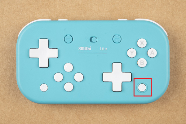 Home button on the Lite controller is highlighted