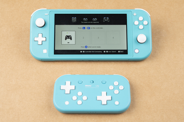 Screen showing controller paired