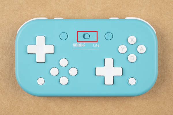 Select switch is pushed to the right, selecting the X functionality