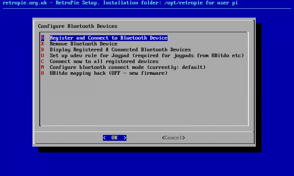 RetroPie Bluetooth Screen