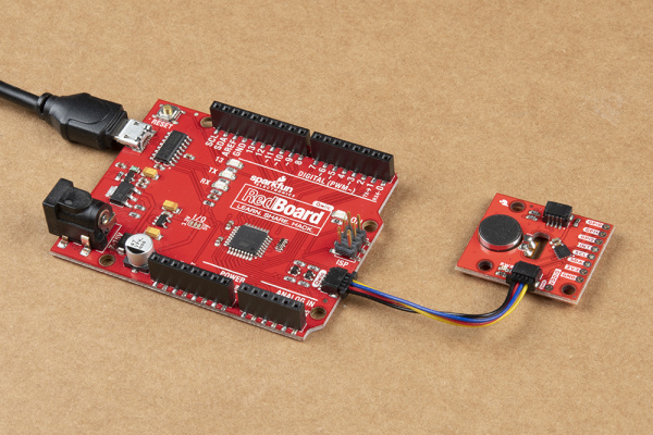 RedBoard Qwiic Connected to Qwiic Haptic Driver for I2C Mode