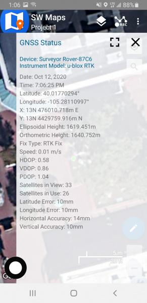 RTK Fix in SW Maps