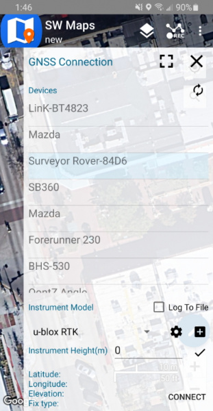 List of BT Devices in SW Maps