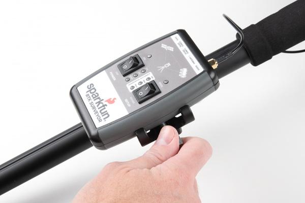 RTK Surveyor mounted in clamp