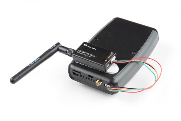 Serial Telemetry Radio mounted to the back of RTK Surveyor