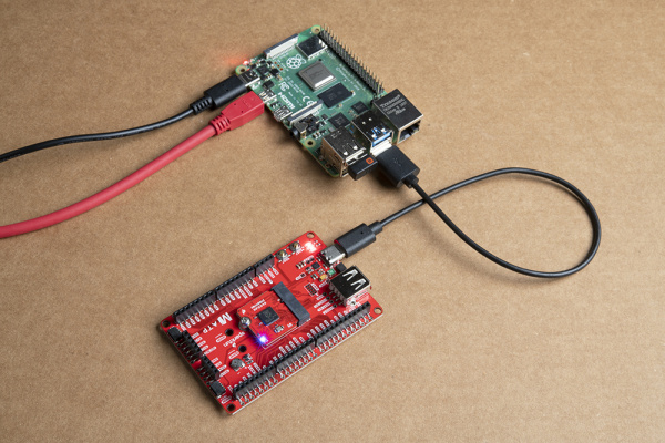 Raspberry Pi and a MicroMod RP2400 Blinking with MicroPython