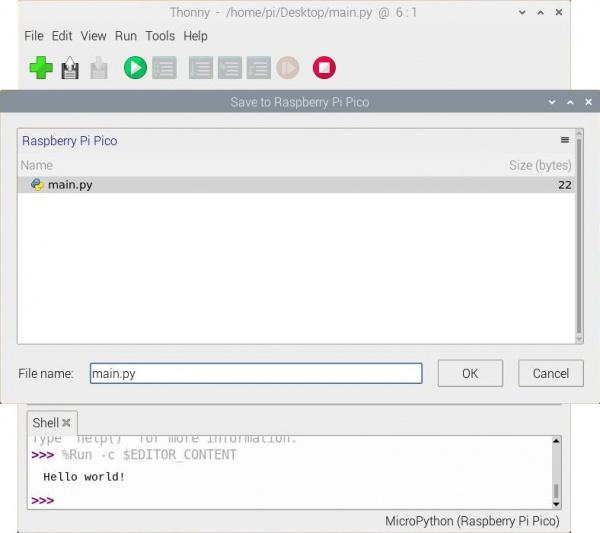 Saving main.py file to RP2040