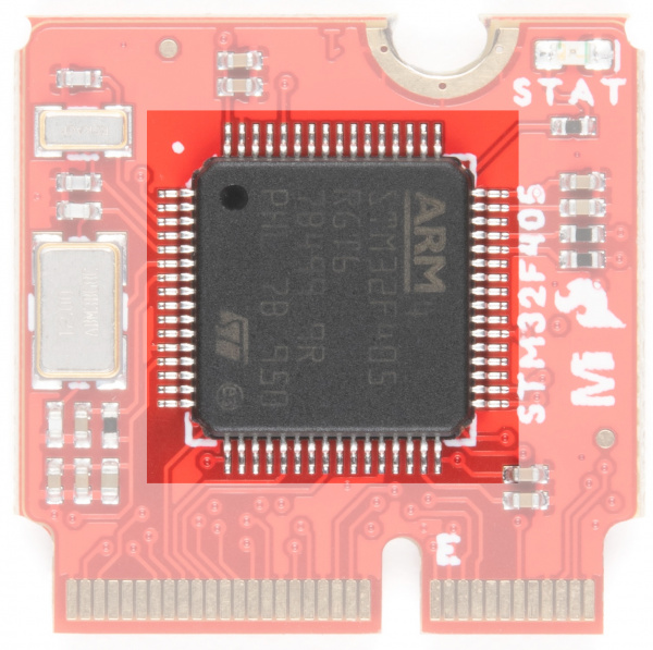 STM32 Arm Cortex is Highlighted