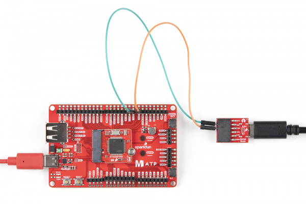 MicroMod ATP board with Serial Basic RX and TXX pins hooked up