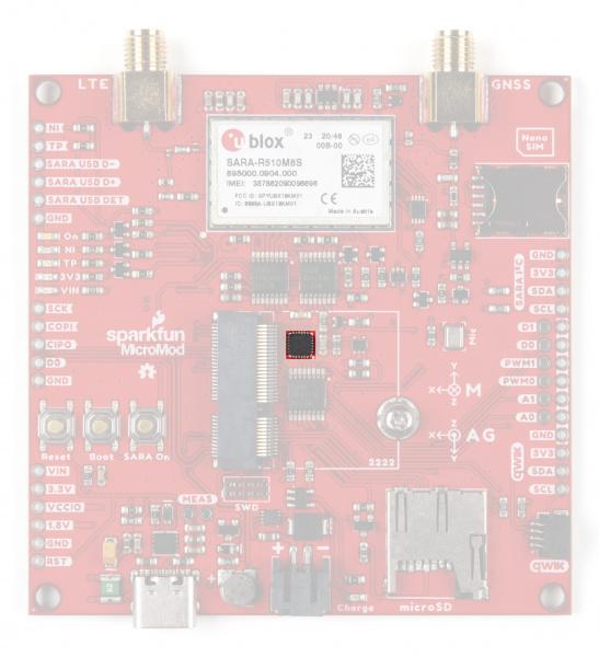 Photo highlighting the ICM-20948 IMU.