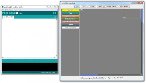 Example of ArduBlock interface
