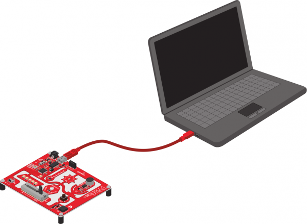 Sandbox connected to computer