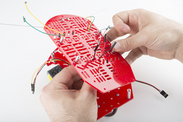 Jumper wires through top piece