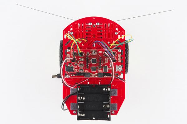 All jumper wires on RedBot