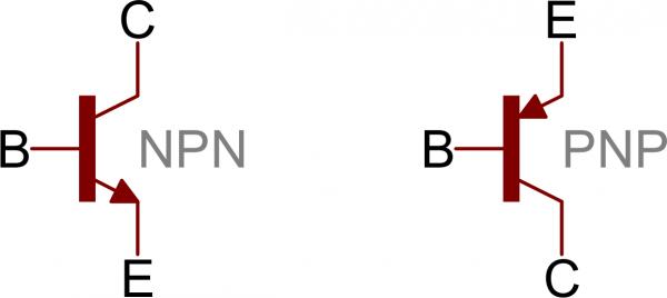 NPN and PNP symbols