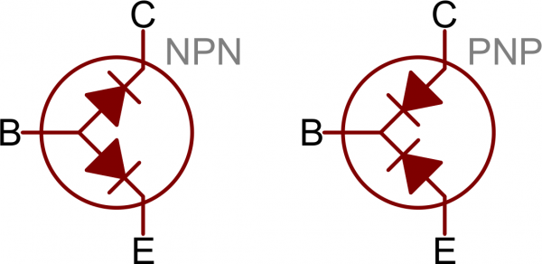 Transistors as two diodes