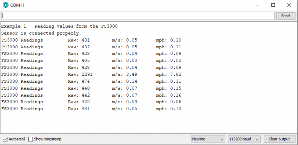 Serial Monitor Output