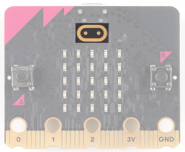 Touch sensitive logo is at the top center of the board