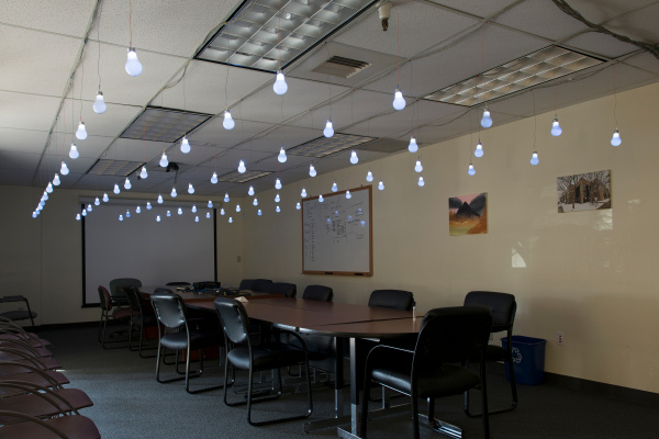the finished LED lightbulb array