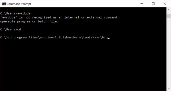 Changing Directories in the Command Line for Windows