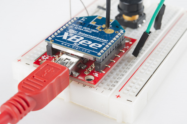 XBee Explorer Breadboard Example