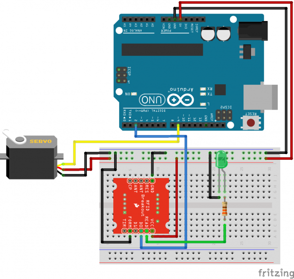 RFID Breakout Fritzing Diagram